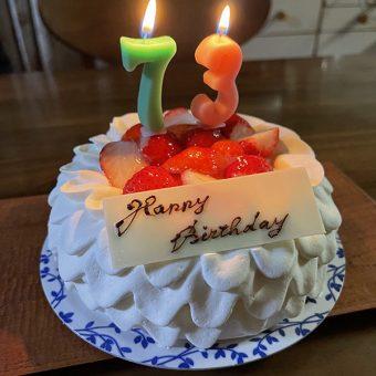 父の誕生ケーキ